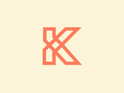 Letter K letter k symbol adventure cream orange gaelic