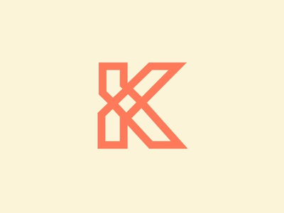 Letter K letter k symbol adventure cream orange gaelic