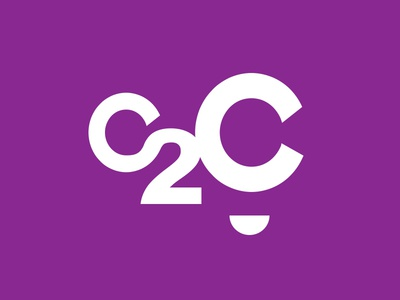 WIP: C2C Logo purple character organization mentor mentorship business 2 c c2c