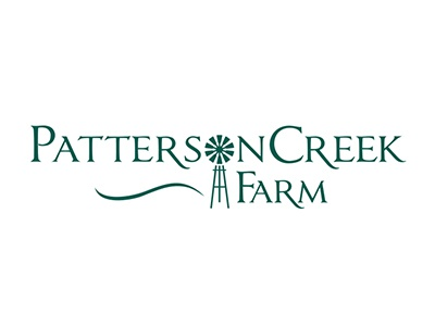 Patterson Creek Farm  brand identity type typography green farming windmill creative brand design farm branding logo