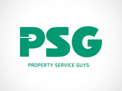 Property Service Guys logo landscaping hardscaping lawn grass shovel green property service lawn care care