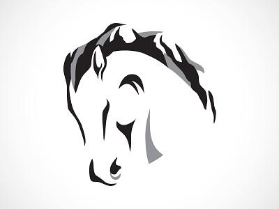 Patterson Creek WIP horse mountains mane logo animal abstract illustration farm farming equine equestrian