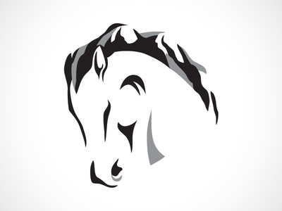 Patterson Creek WIP horse mountains mane logo animal abstract illustration farm farming equine equestrian