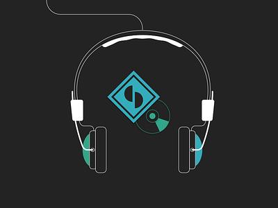 Splitty infographic illustration headphone earphone cd vinyl record music label streaming onboarding