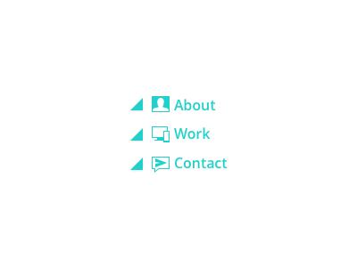 Personal Website portfolio contact work about menu ui website personal