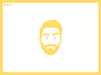 Website Live! design portfolio site web personal face portrait illustration