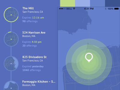 The Collective - Style A map location color style tile timeline ui