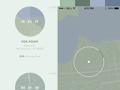 The Collective – Style B timer map location style tile ui color