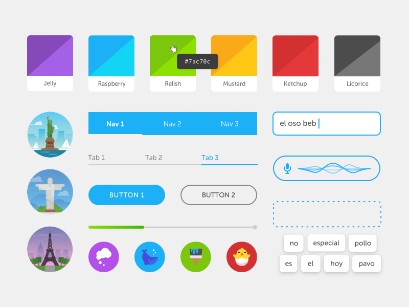 Duolingo Design Guidelines guidelines ui elements style guide