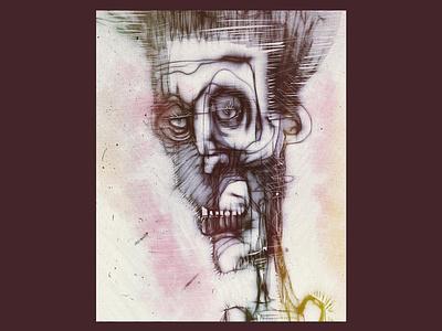 Some Facial Weirdness stylized face weird apple pencil inky ipadproart digital illustrations digitalart applepencil illustration digital illustration