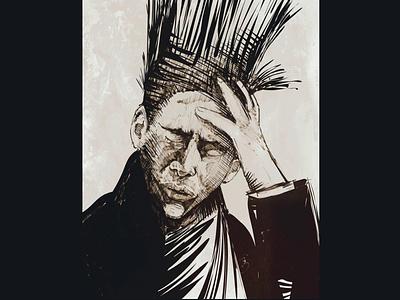 The Hangover hangover weird apple pencil ink inky portrait illustration ipadproart digital illustrations digitalart applepencil illustration digital illustration