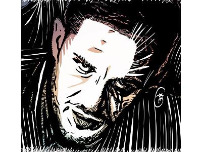 Tom Hardy woodcut ink apple pencil portrait illustration ipadproart digital illustrations digitalart applepencil illustration digital illustration