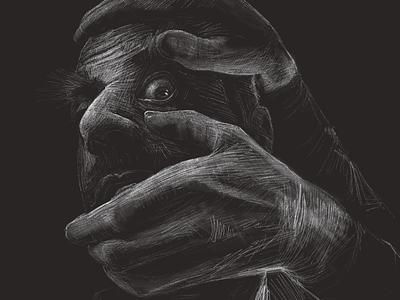I See You, Chris digitalillustration happysyfy syfy chrismeloni happy procreate illustration