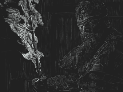 Beric Dondarrian hbo gameofthrones digital illustration illustration procreate the long night richard dormer beric dondarrian got game of thrones