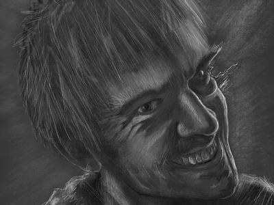 Not The Hero illustration digital illustration procreate dan stevens legion fx legion david haller
