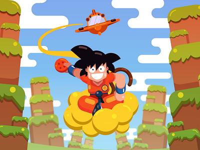 Kid Goku Illustration character design illustrator flat design flat dragon ball goku illustration graphic design