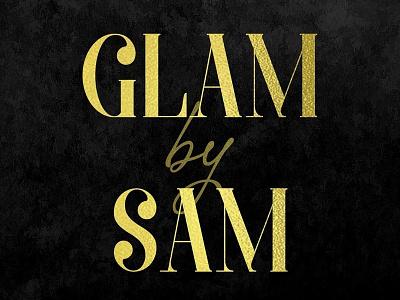 Glam By Sam WordMark cover photo social media facebook branding girly cutesy passionate makeup gold creative freelance logo design typo logo typography wordmark
