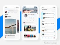 Facebook iOS App Redesign Concept