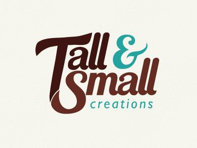 Tall & Small Logo - Version 3 logo tall small brown