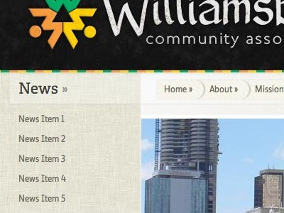 Williamsburg Community Association - Home Page web design home page
