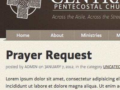 My Church's Website - Shot 1 website church prayer brown