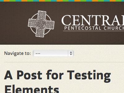 My Church's Website - Shot 2 website responsive church brown