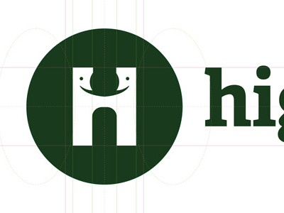 Logo Concept - With Guides logo guides green