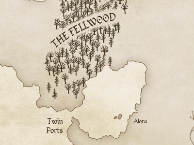 An Unfolding Tale Map fantasy map