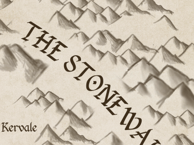 An Unfolding Tale Map - The Stonewall map fantasy mountains