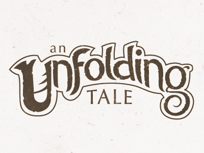 An Unfolding Tale - Logo Concept logo fantasy story unfolding tale logotype