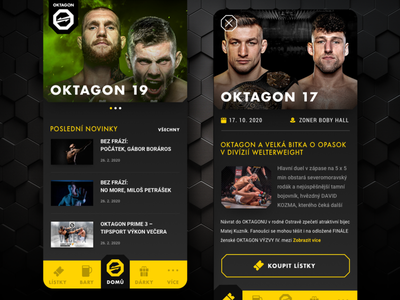 OKTAGON MMA App android app design android design android app ios mobile app design ui ux mobileapp app mobile