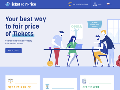 Ticket Fair Price / Website page webdesigner logotypoe icons illustration design ui ux website logo branding webdesign
