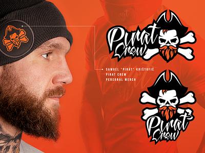Logo design / Personal Merch Pirat Crew pirate mma typogaphy merchdesign merch branding illustrator logotype logo design logo