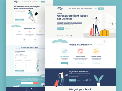 APA - Unresolved flight issue? illustration logo web homepage website uxdesign ux webdesign