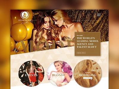Model Agency website portfolio button banner homapage website ui ux webdesign agency model