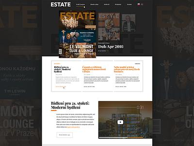 Estate Magazine mockup home news cover ui ux page landing magazine webdesign website