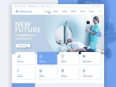 Medical Company / Draft wordpress menu banner buttons landing uikit onepage ui ux webdesign website