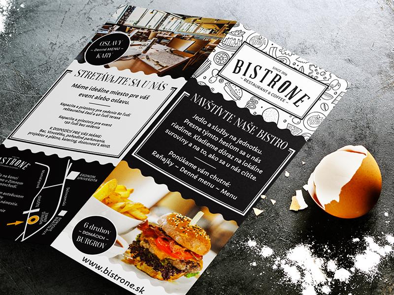 BistrOne - Restaurant & Coffee leaflet | Search by Muzli