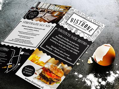 BistrOne - Restaurant &Coffee leaflet typography branding restaurant food mockup leaflet design print graphic