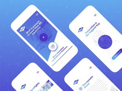 IBSA Concept mockup webdesign ios icon landingpage menu iphone responsive mobile