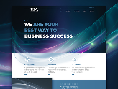 The Best Agency typo page home fractal banner header onepage ui ux website webdesign redesign
