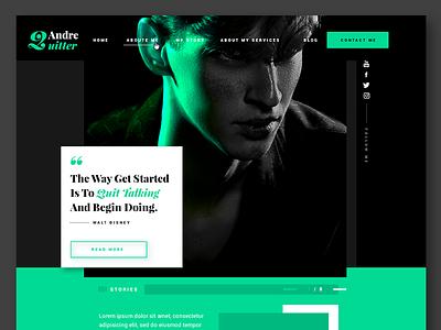Fashion Blogger / Homepage typo graphic websdesign ui ux onepage website homepage blog fashioin