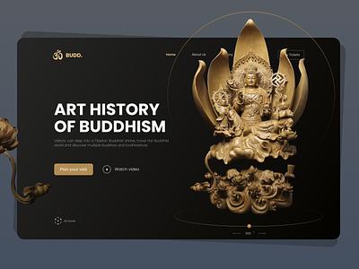 Art History of Buddhism - Hero Header Concept ui design website buddhism buddha