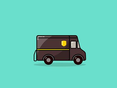 UPS Package Car Illustration package illustrator vector delivery car illustration ups
