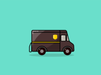 UPS Package Car Illustration