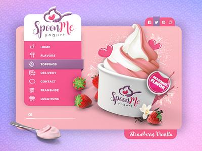 Whimsical and Trendy Frozen Yogurt Web Design website branding ui jb design studio web design frozen yogurt