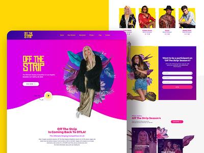 Off The Strip Web Design graphic  design web development wordpress ui website west hollywood branding jb design studio web design singing