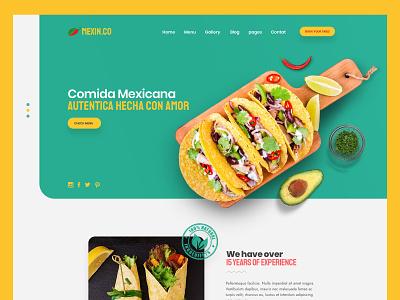 Mexican Restaurant Web Design By JB Design Studio food website latin user interface design logo jb design studio web design ui graphic  design branding colorful mexican mexican restaurant
