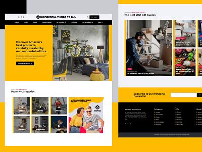 Wonderful Thing To Buy Branding and Web Design graphicdesign affiliate marketing e-commerce elementor ui ux webdesign branding