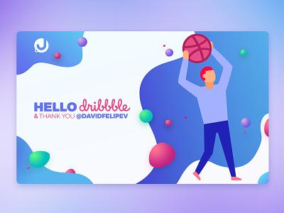 Hello Dribbble! branding first shot design graphic  design hello dribbble
